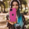 Forcell Silicone SAMSUNG Galaxy A52 5G / A52 LTE ( 4G ) telefontok hot pink