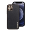 Forcell LEATHER bőr telefontok IPHONE 12 PRO MAX black