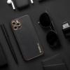 Forcell LEATHER bőr telefontok IPHONE XR black