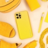 Forcell LEATHER bőr telefontok IPHONE 12 yellow