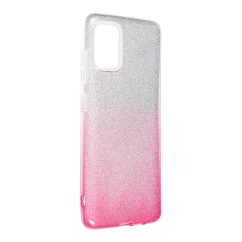 Forcell SHINING SAMSUNG Galaxy A52 5G / A52 LTE ( 4G ) telefontok clear/pink