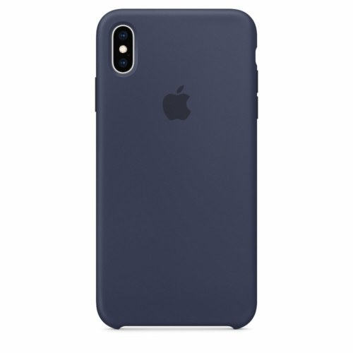 Eredeti szilikon telefontok MRWG2ZM/A iPhone XS Max midnight kék