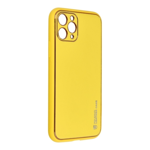 """Forcell LEATHER bőr telefontok IPHONE 11 PRO ( 5,8"""" ) yellow"""