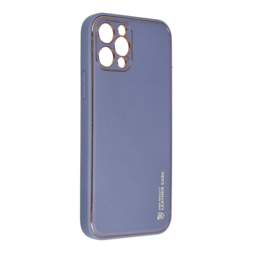 Forcell LEATHER bőr telefontok IPHONE 12 PRO blue