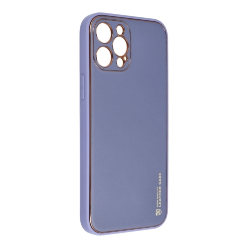 Forcell LEATHER bőr telefontok IPHONE 12 PRO MAX blue