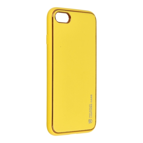 Forcell LEATHER bőr telefontok IPHONE 7 / 8 / SE 2020 yellow