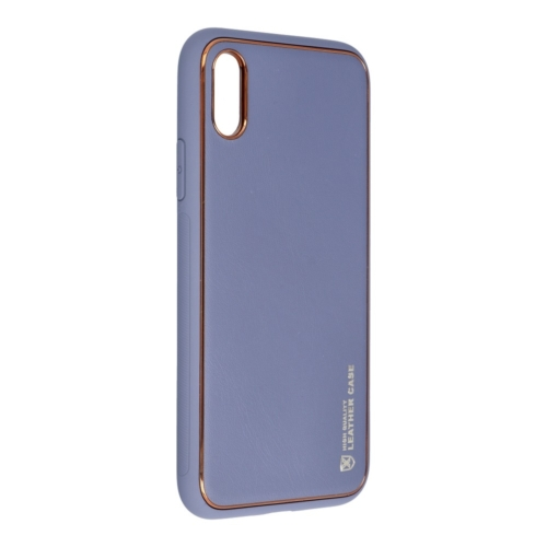 Forcell LEATHER bőr telefontok IPHONE X blue