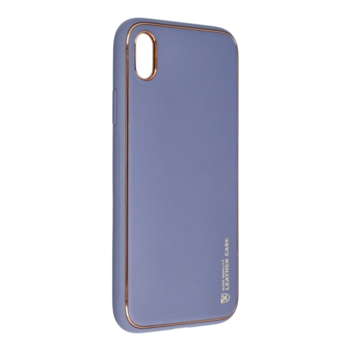 Forcell LEATHER bőr telefontok IPHONE XR blue