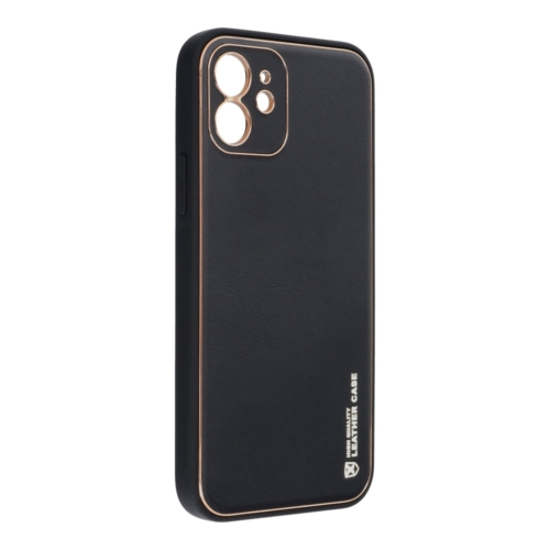 Forcell LEATHER bőr telefontok IPHONE 12 black