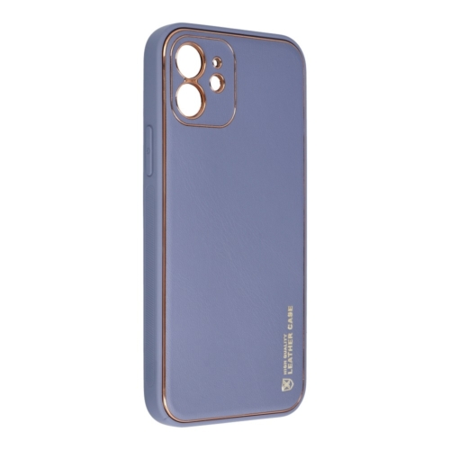 Forcell LEATHER bőr telefontok IPHONE 12 blue