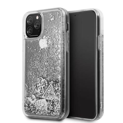 Eredeti GUESS telefontok GUHCN58GLHFLSI iPhone 11 Pro silver