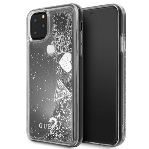 Eredeti GUESS telefontok GUHCN65GLHFLSI iPhone 11 Pro Max silver