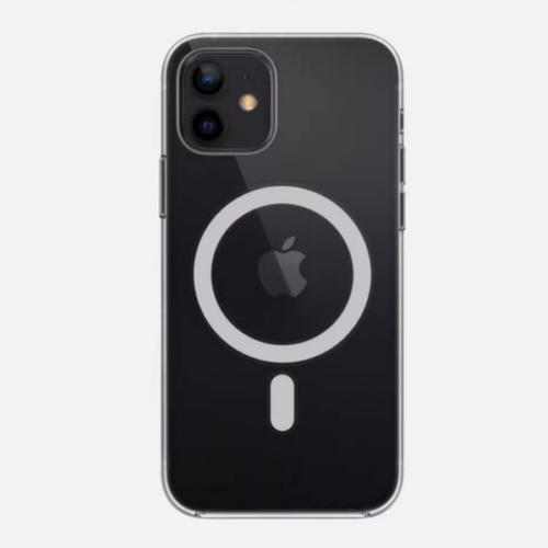 iPhone 12 mágnesgyűrűs szilikon tok - fekete