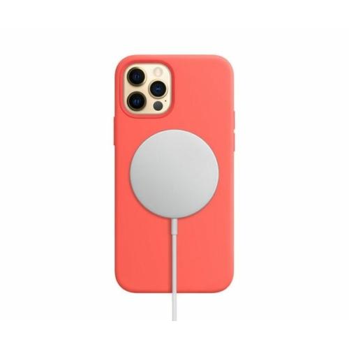 iPhone 12 mágnesgyűrűs szilikon tok - piros