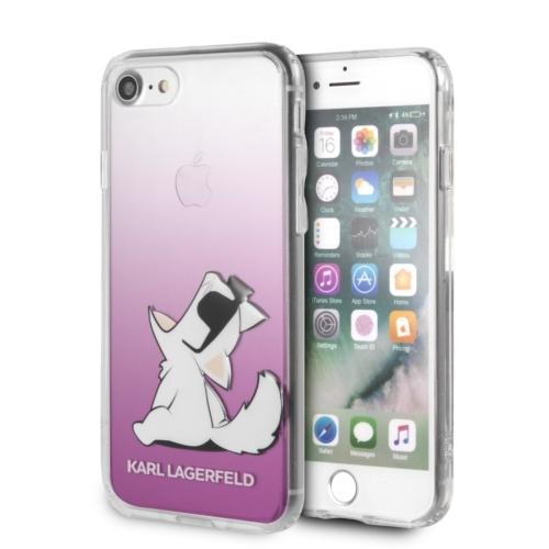 KARL LAGERFELD telefontok KLHCI8CFNRCPI iPhone 7/8 transparent pink