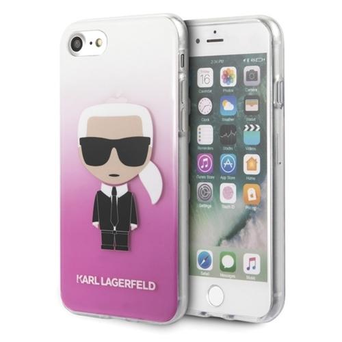 KARL LAGERFELD telefontok KLHCI8TRDFKPI iPhone 7/8 Plus transparent pink