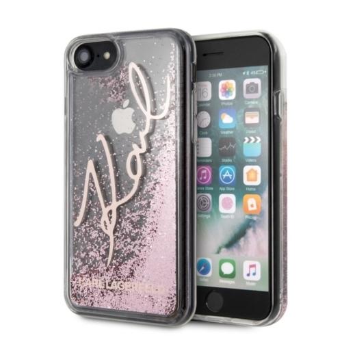 KARL LAGERFELD telefontok KLHCI8TRKSRG iPhone 7/8 Plus transparent pink