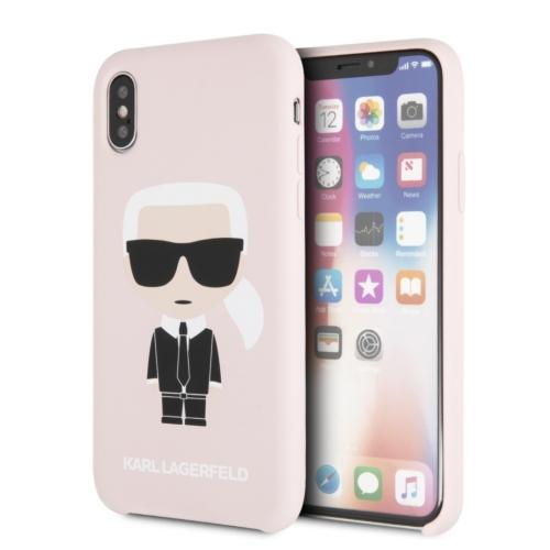 KARL LAGERFELD telefontok KLHCPXSLFKPI iPhone X light pink