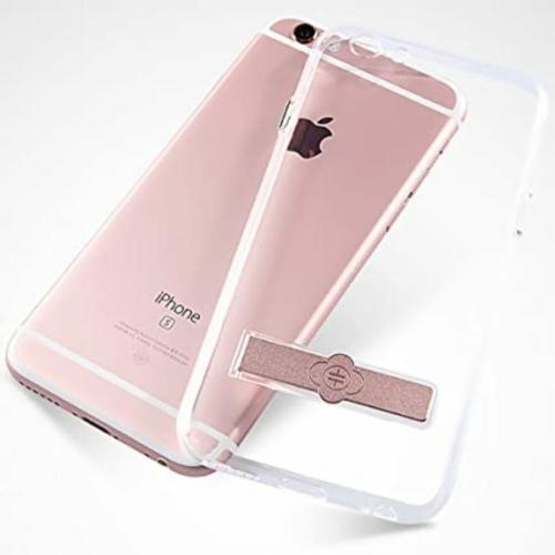 Totu iPhone 6 áttetsző műanyag telefontok, szürke kamera kivágással