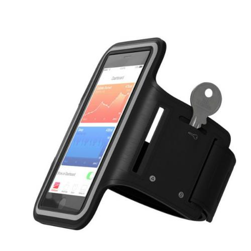 iPhone 6 / iPhone 7 méretű sport karpánt fekete
