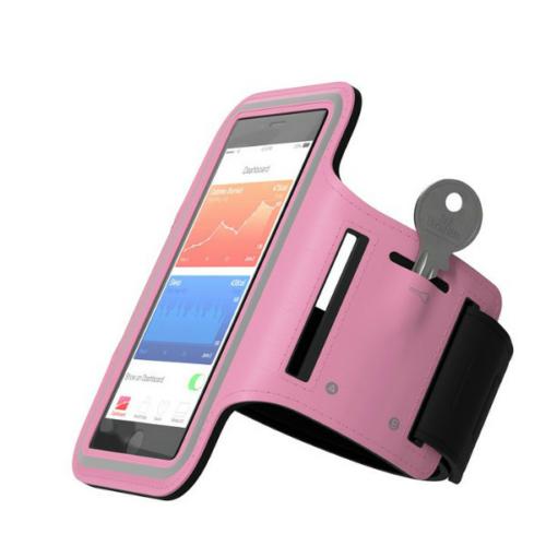 iPhone 6+ / 7+ / 8+ méretű sport karpánt pink