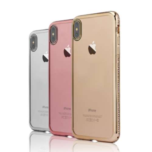 iPhone X / XS ezüst Diamond szilikon telefontok