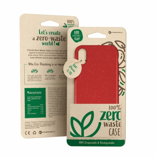 Forcell BIO - Zero Waste telefontok IPHONE SE 2020 / 7 / 8 red