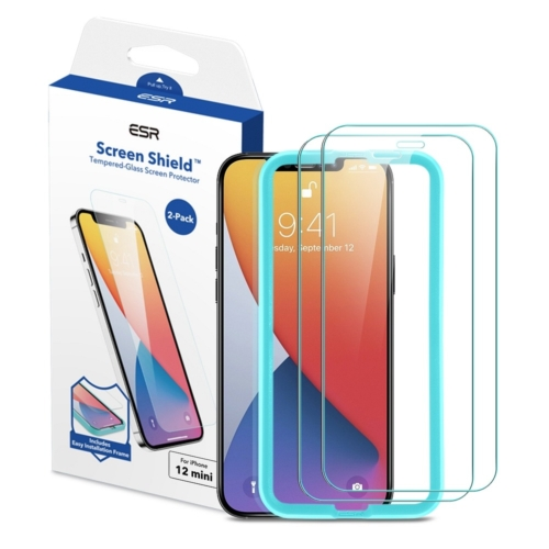ESR Screen Shield edzett üvegfólia (2 db-os) IPHONE 12 MINI