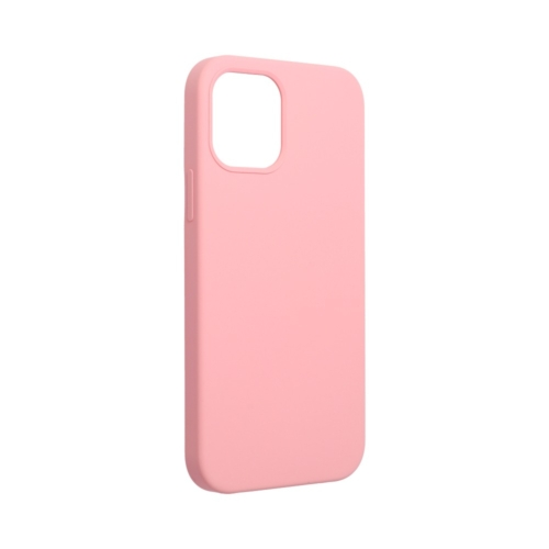 Forcell Silicone IPHONE 12 / 12 PRO pink (with hole) telefontok