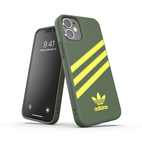 ADIDAS Originals Moulded IPHONE 12 MINI wild pine / acid yellow telefontok