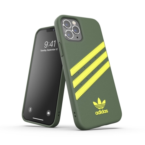 ADIDAS Originals Moulded IPHONE 12 / 12 PRO wild pine / acid yellow telefontok