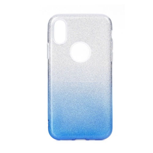 Forcell SHINING IPHONE 12 / 12 PRO clear/blue telefontok