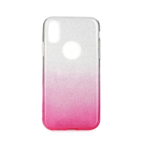 Forcell SHINING IPHONE 12 MINI clear/pink telefontok