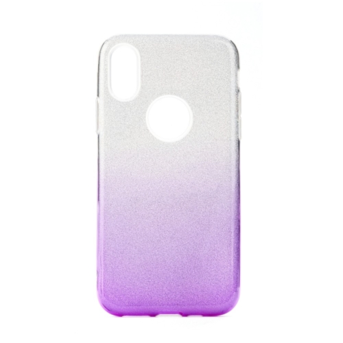 Forcell SHINING IPHONE 12 / 12 PRO clear/violet telefontok