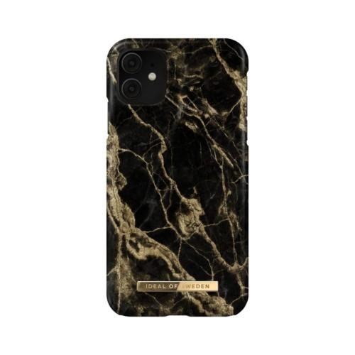 iDeal of Sweden Fashion telefontok iPhone 11 / XR Golden Smoke Marble