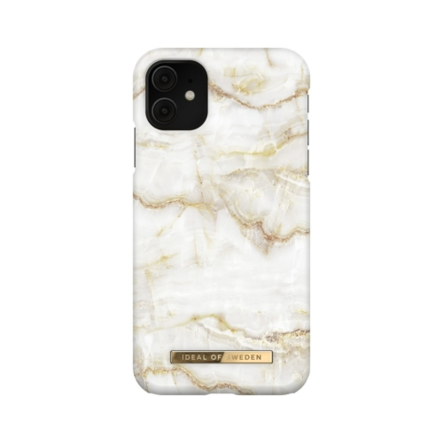 iDeal of Sweden Fashion telefontok iPhone 11 / XR Golden Pearl Marble
