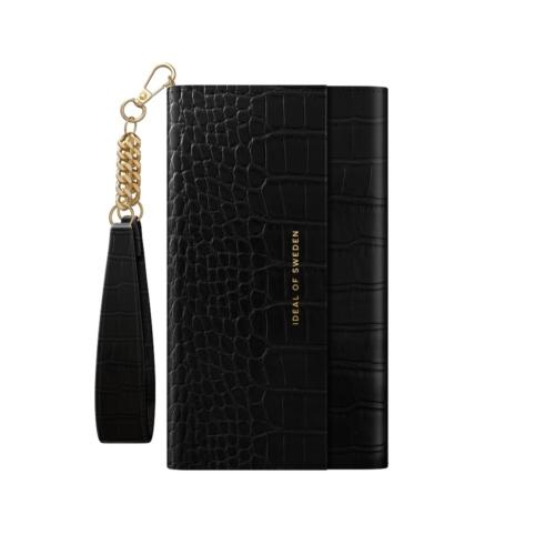 iDeal of Sweden Clutch telefontok iPhone 8 / 7 / 6 / SE Jet Black Croco