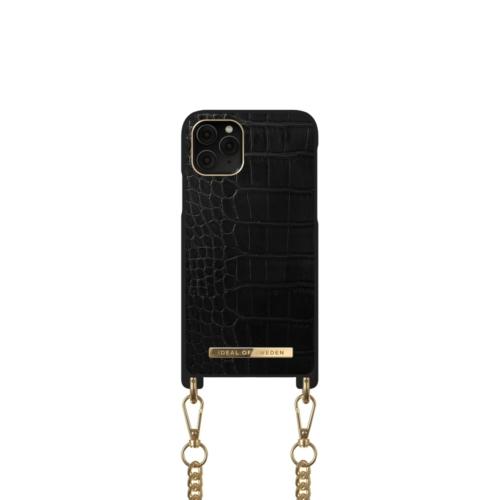 iDeal of Sweden Necklace telefontok iPhone 11 PRO / XS / X Jet Black Croco