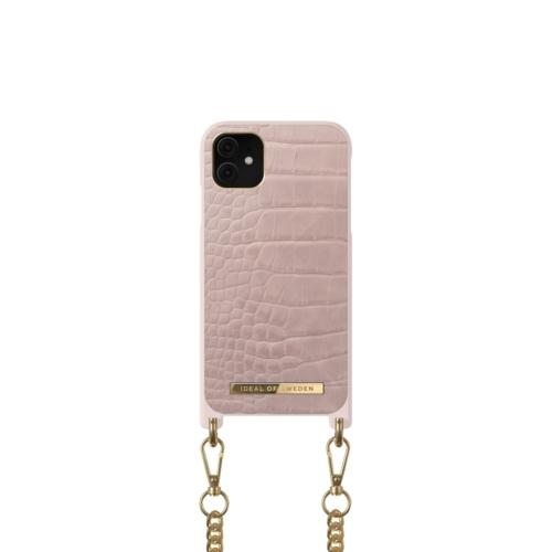 iDeal of Sweden Necklace telefontok iPhone 11 / XR Misty Rose Croco
