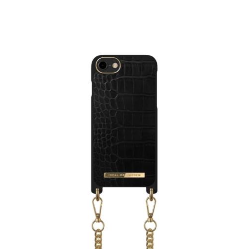 iDeal of Sweden Necklace telefontok iPhone 8 / 7 / 6 / SE Jet Black Croco
