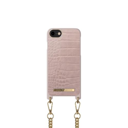 iDeal of Sweden Necklace telefontok iPhone 8 / 7 / 6 / SE Misty Rose Croco