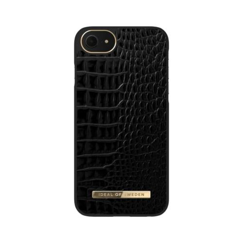 iDeal of Sweden Atelier telefontok iPhone 8 / 7 / 6 / SE Neo Noir Croco