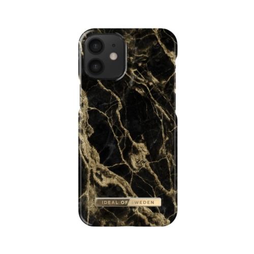 iDeal of Sweden telefontok iPhone 12 MINI Golden Smoke Marble
