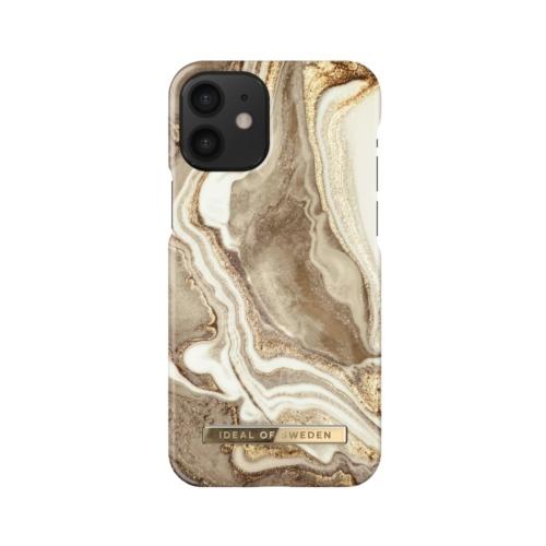 iDeal of Sweden Fashion telefontok iPhone 12 MINI Golden Sand Marble