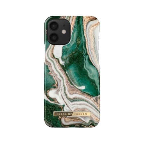 iDeal of Sweden telefontok iPhone 12 MINI Golden Jade Marble