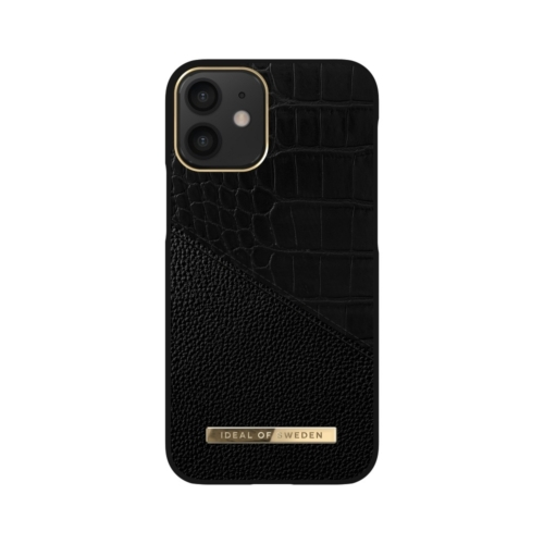 iDeal of Sweden Atelier telefontok iPhone 12 MINI Nightfall Croco