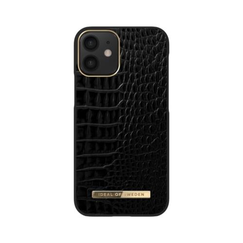 iDeal of Sweden Atelier telefontok iPhone 12 MINI Neo Noir Croco