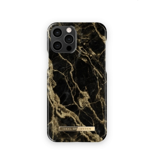 iDeal of Sweden telefontok iPhone 12 / 12 PRO Golden Smoke Marble