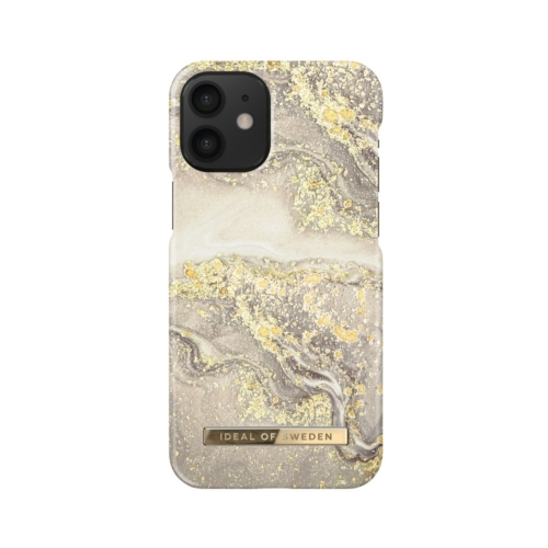 iDeal of Sweden Fashion telefontok iPhone 12 MINI Sparkle Greige Marble
