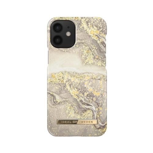 iDeal of Sweden Fashion telefontok iPhone 12 MINI Sparkle Greige Marble
